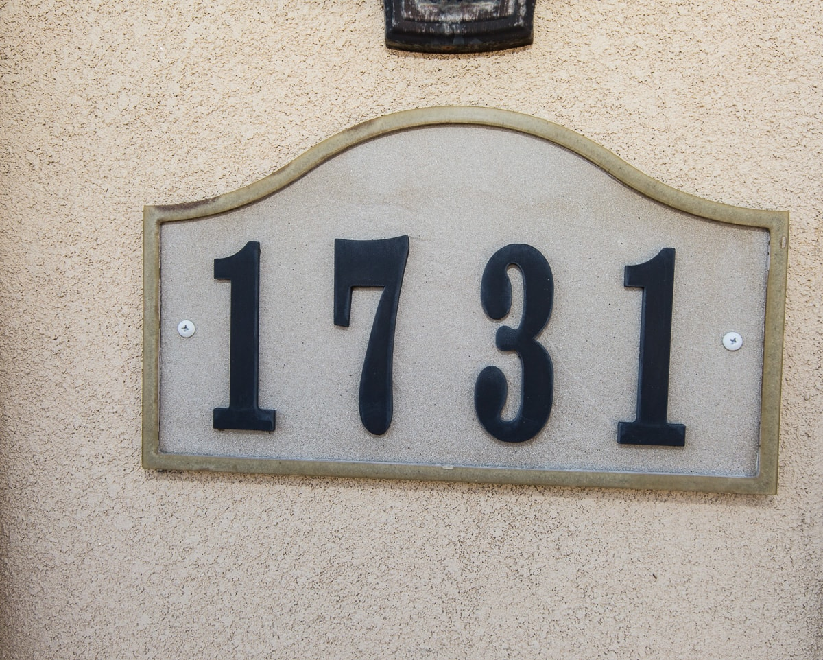 1731 Address Plate
