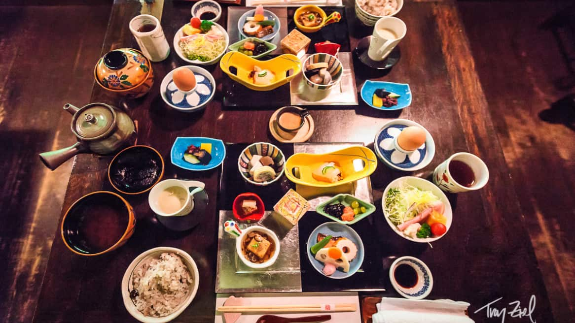 Artful Onsen Japanese Breakfast