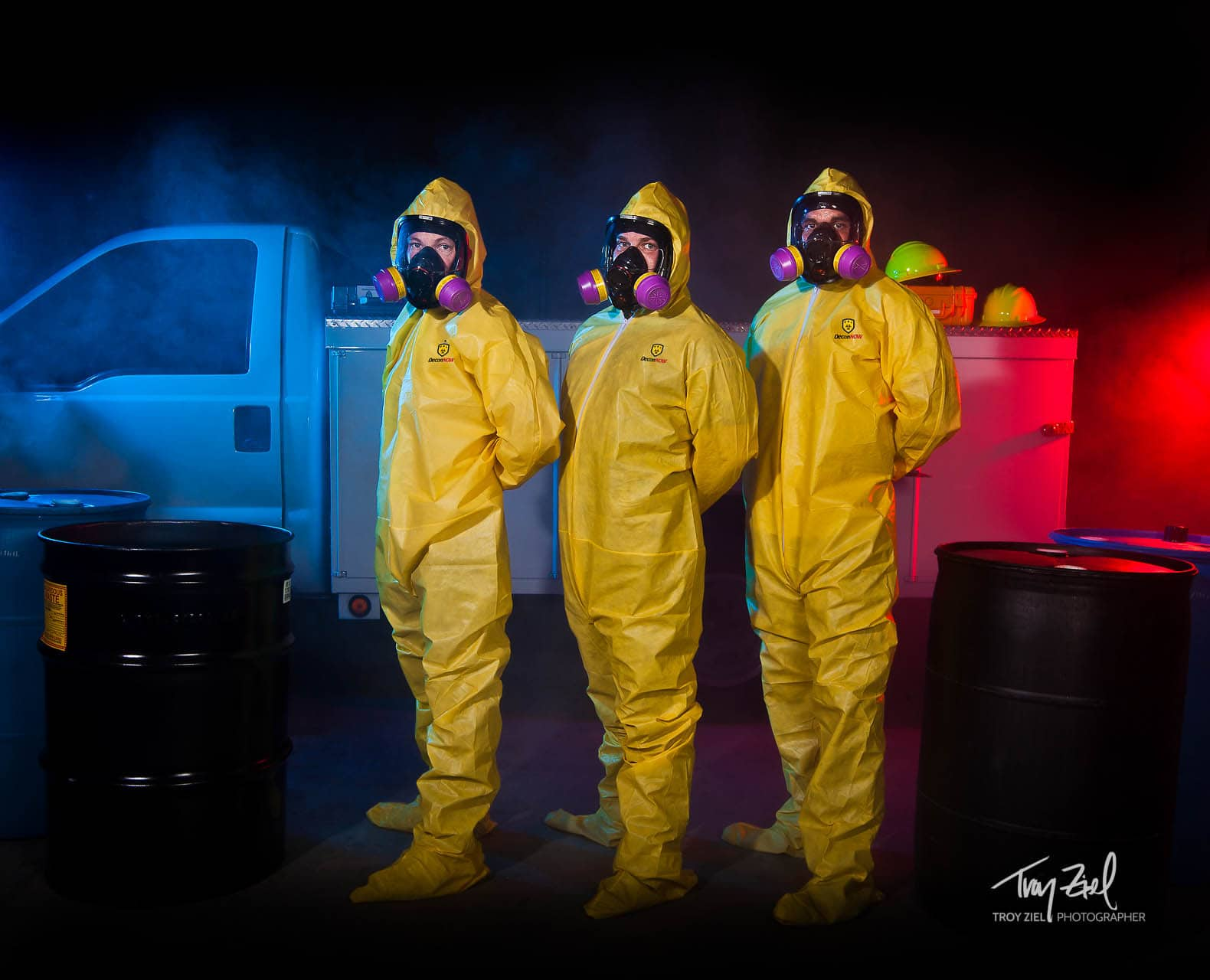 Decon Now Hazmat Photoshoot