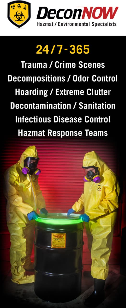 HazMat Action Shot on company popup banner.