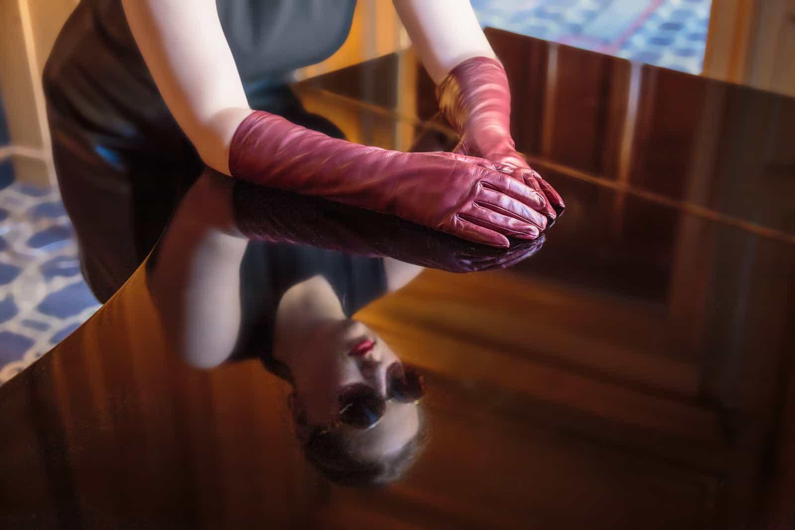 beau-gant-gloves-8-inch-long-dark-red-fashion